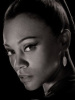 Zoe Saldana as Nyota Uhura in the new 2009 movie Star Trek XI