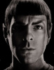 Zachary Quinto as Captain Spock in the new 2009 movie Star Trek XI