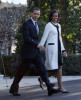 first lady Michelle Obama walking with President Barack Obama to Marine One as they depart the White House on March 31st 2009 in Washington DC