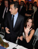 Nicolas Sarkozy and Carla Bruni Sarkozy attend ART JOY LOVE Charity Gala for Association Hadassah at the Pavillon d'Armenonville on March 5th 2009 in Paris France