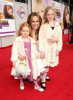 Melora Hardin and daughters Rory Melora and Piper Hardin Jackson on the red carpet of the Walt Disney Picture's premiere of Hannah Montana: The Movie