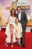 Melora Hardin and husband Gildart Jackson with their daughters Rory Melora and Piper Hardin Jackson arrive at the Walt Disney Picture's premiere of Hannah Montana: The Movie