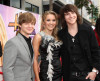 Jason Earles, Emily Osment and actor Mitchell Musso arrive at the Premiere Walt Disney Hannah Montana movie on April 2nd 2009