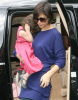 Katie Holmes and baby Suri Cruise spotted at restaurant Le Pain Quotidien on march 29th 2009 2