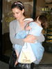 Katie Holmes and baby Suri Cruise apotted at Bread Crumbs in Beverly Hills on March 22nd 2009 2
