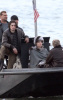 Angelina Jolie spotted filming her new movie Salt on a boat near Staten Island in the New York Harbor on April 8th 2009 11