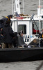 Angelina Jolie spotted filming her new movie Salt on a boat near Staten Island in the New York Harbor on April 8th 2009 4