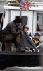 Angelina Jolie spotted filming her new movie Salt on a boat near Staten Island in the New York Harbor on April 8th 2009 3
