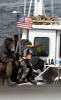 Angelina Jolie spotted filming her new movie Salt on a boat near Staten Island in the New York Harbor on April 8th 2009 10