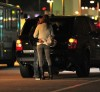 Alessandra Ambrosio spotted kissing her husband outside the Los Angeles International Airport before she takes a flight alone on January 28th 2009 1