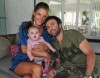 Alessandra Ambrosio with her husband Jamie Mazur and their baby daughter Anja in Santa Catarina Brazil on March 16th 2009