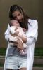 Alessandra Ambrosio with baby daughter Anja Louise in front of their home in California on October 30th 2008 11