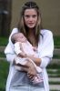 Alessandra Ambrosio first pictures of baby daughter Anja Louise in front of their home in California on October 30th 2008