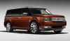 Ford Flex 2009 Flex Maroon 2009 ford flex front and right side view