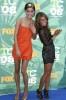 Jessica Stroup attends The 2008 Teen Choice Awards with Shenae Grimes on August 3rd 2008 6