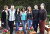 The cast of Friends Lisa Kudrow, Matt LeBlanc, Matthew Perry, David Schwimmer, Courteney Cox, and Jennifer Aniston on The Oprah Winfrey Show on April 19th 2004