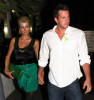 Paris Hilton leaves the Hard Rock Hotel and Casino with her boyfriend Doug Reinhardt on St Patricks Day on March 17th, 2009
