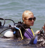 Paris Hilton scuba Diving in Maui on March 12th, 2009