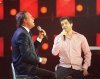 Julio Iglesias singing with Mohamed Bash from Syria at the 8th prime of star academy season 6 on April 10th 2009