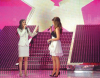 Lara Scandar and Hilda Khalifeh on stage of Star Academy Eighth Prime on April 10th 2009