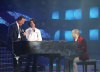 Zaher and Julio Iglesias with Michel Fadel on the piano at the 8th prime of star academy season 6 on April 10th 2009