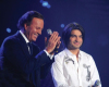 Julio Iglesias singing with Zaher from Tunis at the 8th prime of star academy season 6 on April 10th 2009