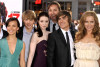Allison Miller, Sterling Knight, Michelle Trachtenberg, director Burr Steers, Zac Efron, and Leslie Mann arrive at the movie premiere of 17 Again on April 14, 2009