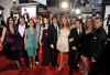 Michelle Trachtenberg with Jennifer Gibgot, Hunter Parrish, Allison Miller, Sterling Knight, director Burr Steers, Zac Efron, Leslie Mann, Matthew Perry, Thomas Lennon, Melora Hardin and producer Adam Shankman