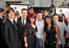 Zac Efron, Matt Giraud, Allison Iraheta, Anoop Desai, Danny Gokey, Adam Lambert, Lil Rounds, and Kris Allen at the movie premiere of 17 Again on April 14, 2009