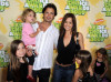 David Charvet with Brooke Burke and kids at Nickelodeon's 2009 Kids Choice Awards