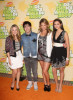 Lauren Collins with Pete Wentz, Miriam McDonald, and Nina Dobrev at Nickelodeon's 2009 Kids Choice Awards