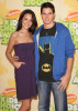 Italia Ricci with Robbie Amell at Nickelodeon's 2009 Kids Choice Awards