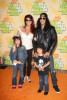 Slash with his wife Perla Ferrar and children at Nickelodeon's 2009 Kids Choice Awards