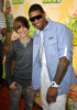 Usher and Justin Bieber at Nickelodeon's 2009 Kids Choice Awards