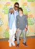Usher and Justin Bieber arrives at Nickelodeon's 2009 Kids Choice Awards