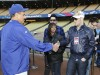 The Final Top 7 American Idol Contestants, Adam Lambert with Lil Rounds and Matt Giraud Attend A Dodgers Game in April 2009