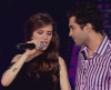 Mohamed Bash and Lara Scandar singing Disturbia by Rihanna at the LBC Star Academy ninth prime of season 6