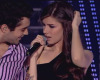 Mohamed Bach and Lara Scandar singing Disturbia by Rihanna at the LBC Star Academy ninth prime of season 6