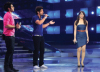 three nominees Yahia swies with Diala Odeh and Ibrahim singing on stage at the LBC Star Academy Ninth Prime