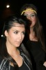 Kim Kardashian with sister Khloe Kardasian at the Launch Party for Pepsi Throwback on April 29th 2009 2