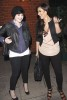 Kim Kardashian out with Kelly Osbourne for dinner in Los Angeles on April 28th 2009