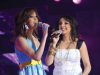 Angham and Basma from Morocco singing on stage of staracademy6 on May 8th 2009 at the LBC Star Academy 12th prime