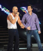Bash and Massari singing on stage of staracademy6 on May 8th 2009 at the LBC Star Academy 12th prime