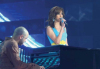 Basma singing along with Michel fadel on stage at staracademy6 on May 8th 2009 at the LBC Star Academy 12th prime