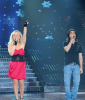 Zaher and Fragma singing together on the LBC Star Academy 10th prime on April 24th 2009