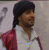 Abdel Aziz Abdel Rahman wearing a black head bandana