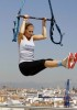 Bar Refaeli on the Terrace of the Circulo de Bellas Artes Trapeze School Reebok in Madrid Spain on May 6th 2009 5