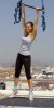 Bar Refaeli on the Terrace of the Circulo de Bellas Artes Trapeze School Reebok in Madrid Spain on May 6th 2009 2