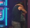 Mohamed Bash and Lara Scandar hugging after her arrival from Italy trip