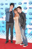 Paula Abdul with Kris Allen and Adam Lambert arrive at the American Idol Season 8 Grand Finale held at Nokia Theatre L.A. Live on May 20, 2009 in Los Angeles, California